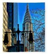 The Chrysler Building Fleece Blanket