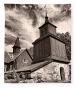 The Church Of Fagervik Fleece Blanket