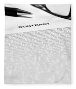 The Legal Contract Fleece Blanket