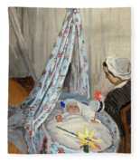 The Cradle - Camille With The Artist's Son Jean Fleece Blanket
