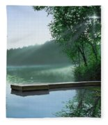 The Cross And The  Light Fleece Blanket
