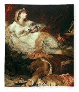 The Death Of Cleopatra Fleece Blanket
