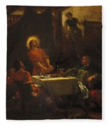 The Disciples At Emmaus Fleece Blanket