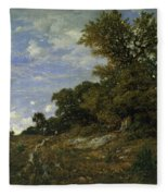 The Edge Of The Woods At Monts-girard, Fontainebleau Forest Fleece Blanket