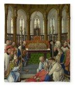 The Exhumation Of Saint Hubert Fleece Blanket
