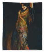 The Flamenco Dancer Fleece Blanket