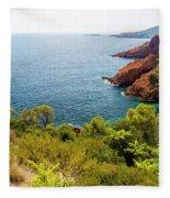 The French Riviera  Fleece Blanket