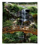 The Garden Bridge Fleece Blanket
