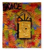 The Golden Door Of Grace Fleece Blanket