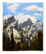The Grand Tetons Fleece Blanket