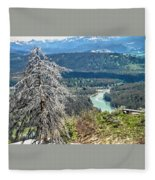 The Grande Tetons Fleece Blanket