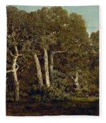 The Great Oaks Of Old Bas-breau Fleece Blanket
