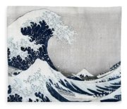 The Great Wave Of Kanagawa Fleece Blanket