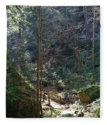 The Green Forest Fleece Blanket