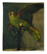 The Green Parrot Fleece Blanket