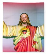 The Hands Of Christ Fleece Blanket