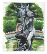 The Hidden Fountain Fleece Blanket