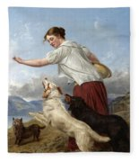 The Highland Lassie Fleece Blanket