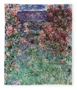 The House Among The Roses Fleece Blanket