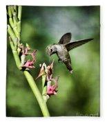 The Hummingbird  Fleece Blanket