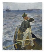 The Inshore Channel Fleece Blanket
