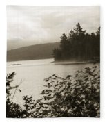 The Lake Of Two Rivers At Dawn Fleece Blanket