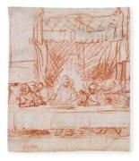 The Last Supper, After Leonardo Da Vinci Fleece Blanket