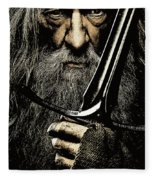 The Leader Of Mankind  - Gandalf / Ian Mckellen Fleece Blanket