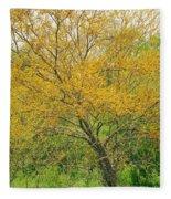 The Leaning Tree Fleece Blanket