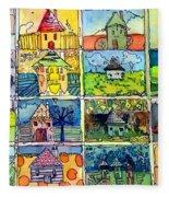 The Little Houses Fleece Blanket