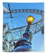 The London Eye And Street Lamp Fleece Blanket