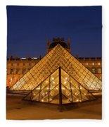 The Louvre Art Museum Fleece Blanket