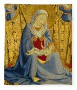 The Madonna Of Humility Fleece Blanket