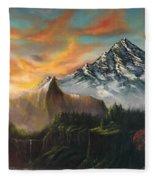 The Majestic Mountain Fleece Blanket