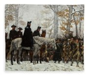 The March To Valley Forge Fleece Blanket