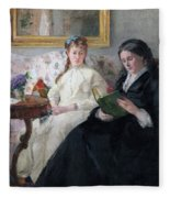 The Mother And Sister Of The Artist Fleece Blanket