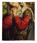 The Mourning Mary Magdalene Fleece Blanket