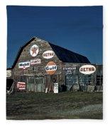 The Nostalgia Barn Fleece Blanket