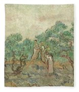 The Olive Orchard, 1889 Fleece Blanket