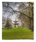 The Pagoda Battersea Park London Fleece Blanket