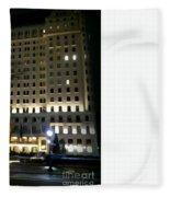 The Plaza Hotel Fleece Blanket