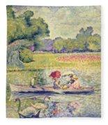 The Promenade In The Bois De Boulogne Fleece Blanket