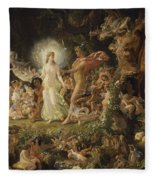 The Quarrel Of Oberon And Titania Fleece Blanket