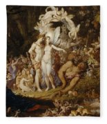 The Reconciliation Of Oberon And Titania Fleece Blanket