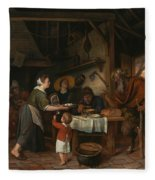 The Satyr And The Peasant Family Fleece Blanket