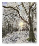 The Snow Forest Art Fleece Blanket
