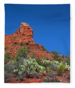 The Sphinx Rock Formation Fleece Blanket
