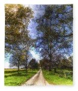 The Summer Farm Track Art Fleece Blanket