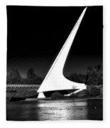 The Sundial Bridge Fleece Blanket