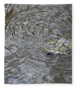 The Swimming Turtle Fleece Blanket